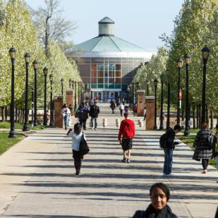 Campus walk and rotunda